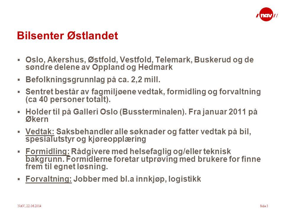 Bilsenter Østlandet Oslo, Akershus, Østfold, Vestfold, Telemark, Buskerud og de søndre delene av Oppland og Hedmark.