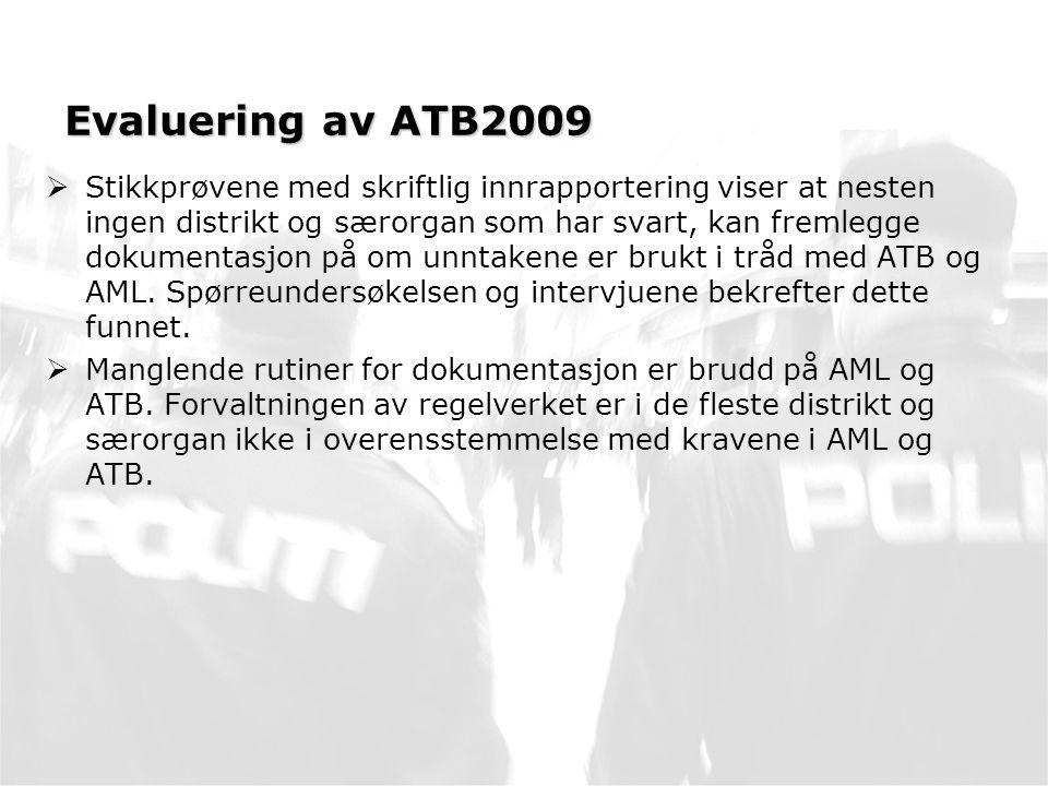 Evaluering av ATB2009