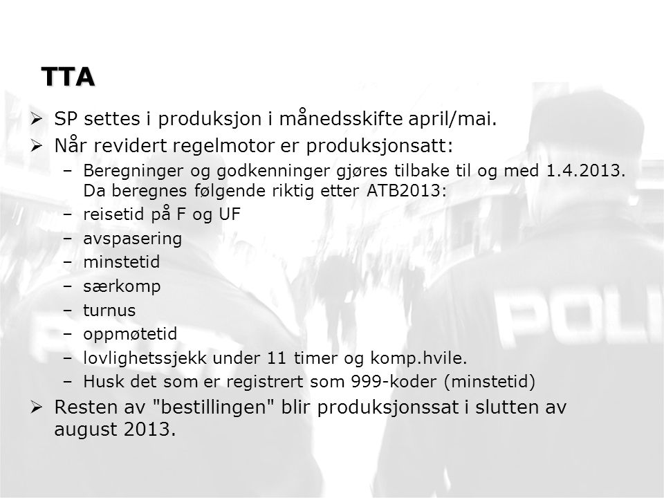 TTA SP settes i produksjon i månedsskifte april/mai.