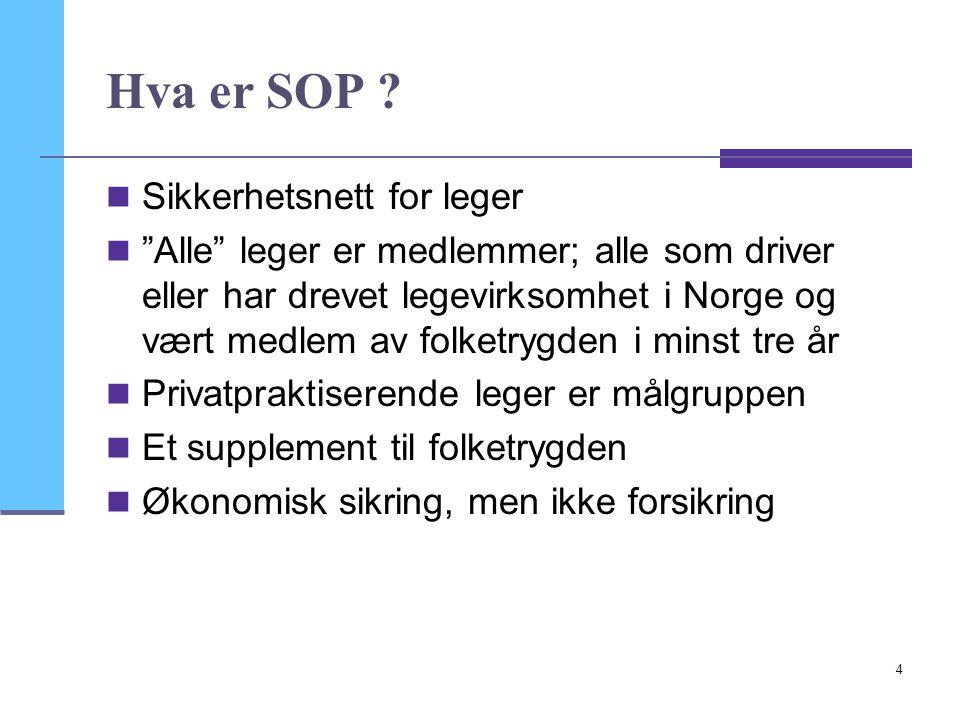 Hva er SOP Sikkerhetsnett for leger