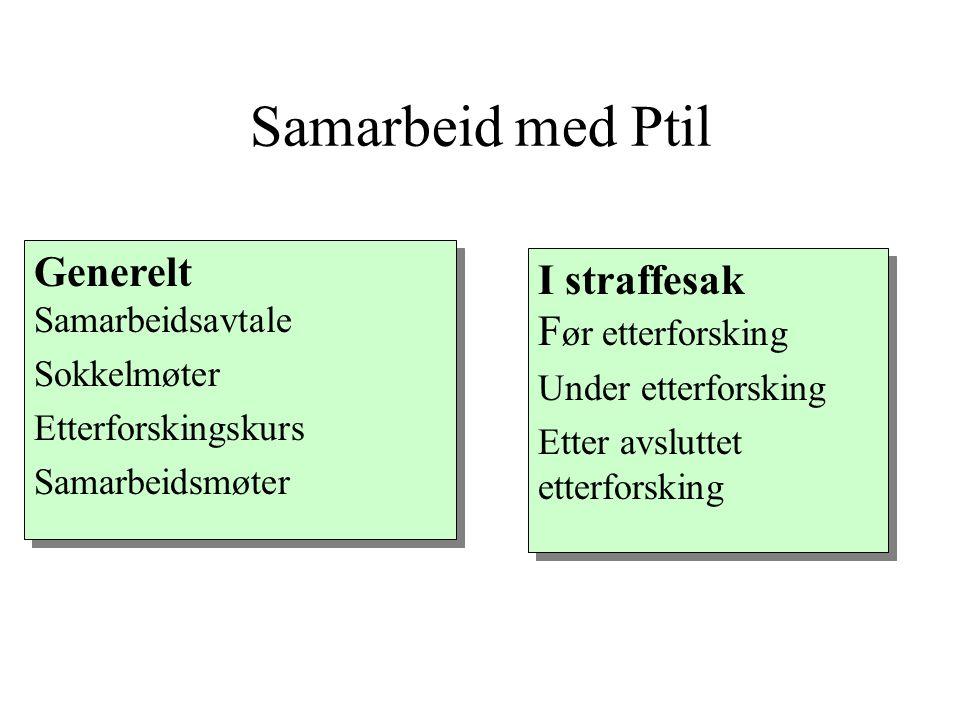 Samarbeid med Ptil Generelt Samarbeidsavtale