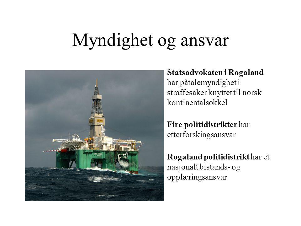 Myndighet og ansvar Statsadvokaten i Rogaland har påtalemyndighet i straffesaker knyttet til norsk kontinentalsokkel.