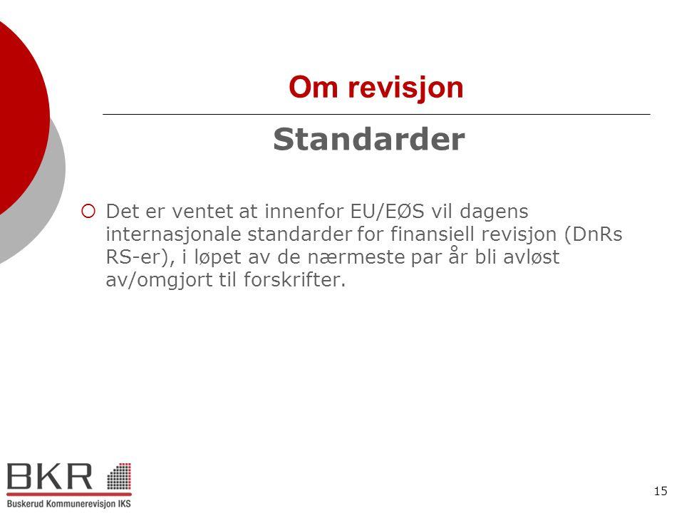 Om revisjon Standarder