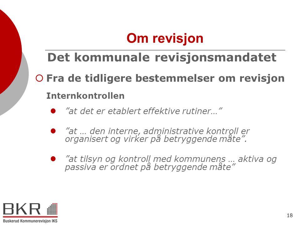 Det kommunale revisjonsmandatet