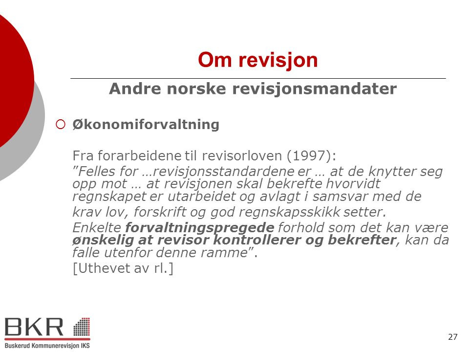 Andre norske revisjonsmandater