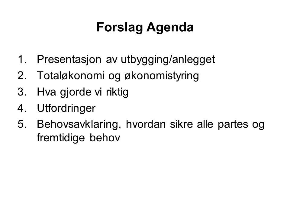Forslag Agenda Presentasjon av utbygging/anlegget