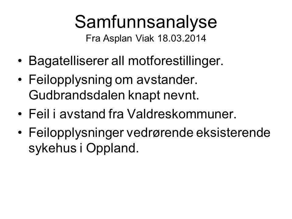 Samfunnsanalyse Fra Asplan Viak 18.03.2014