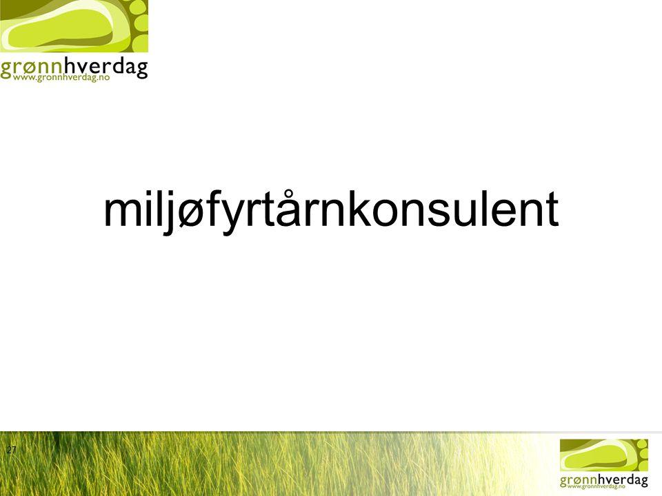 miljøfyrtårnkonsulent