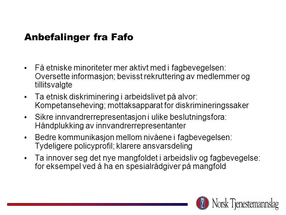 Anbefalinger fra Fafo