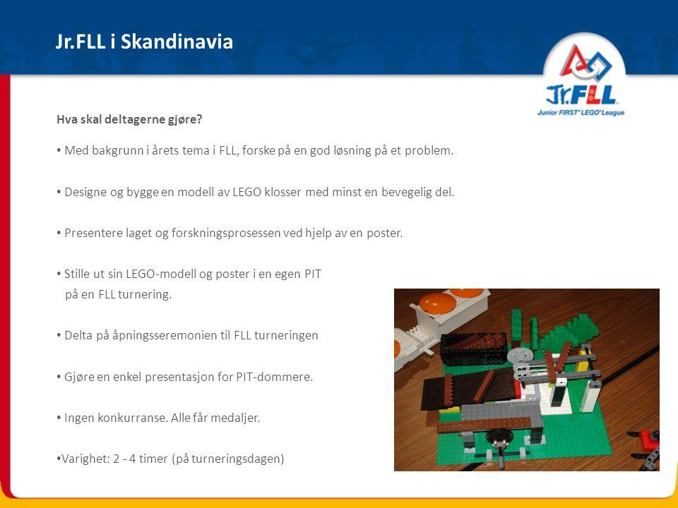 Jr.FLL i Skandinavia Hva skal deltagerne gjøre