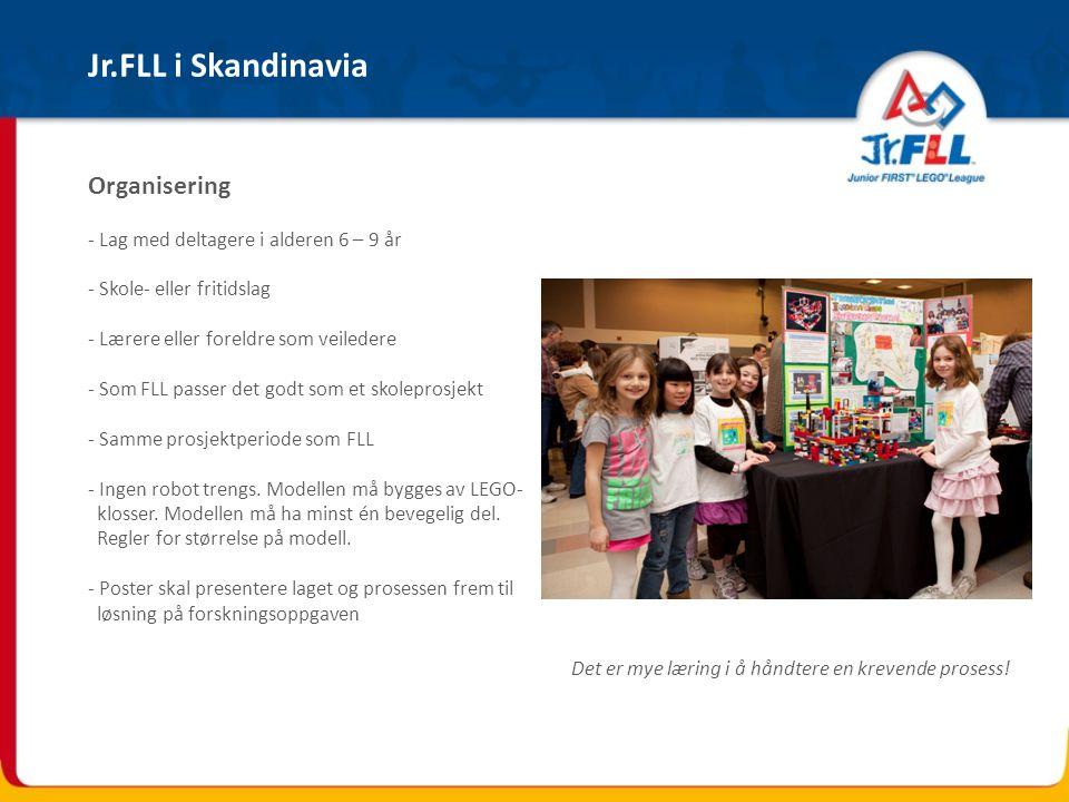 Jr.FLL i Skandinavia Organisering