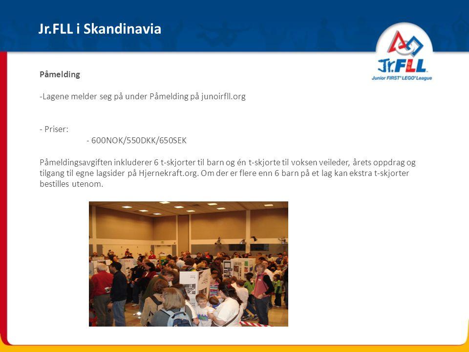 Jr.FLL i Skandinavia Påmelding