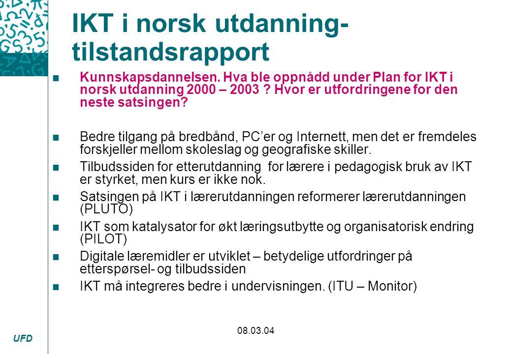 IKT i norsk utdanning- tilstandsrapport