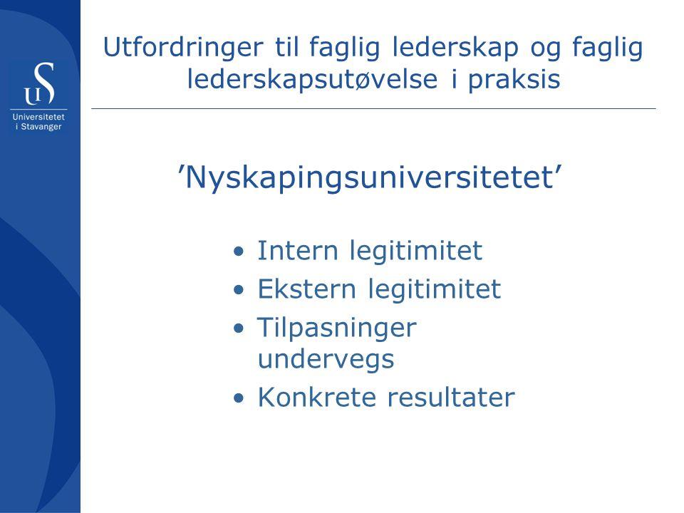 'Nyskapingsuniversitetet'
