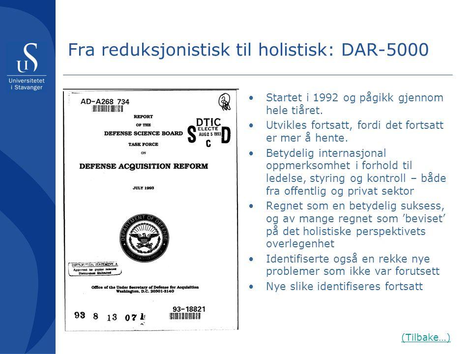 Fra reduksjonistisk til holistisk: DAR-5000