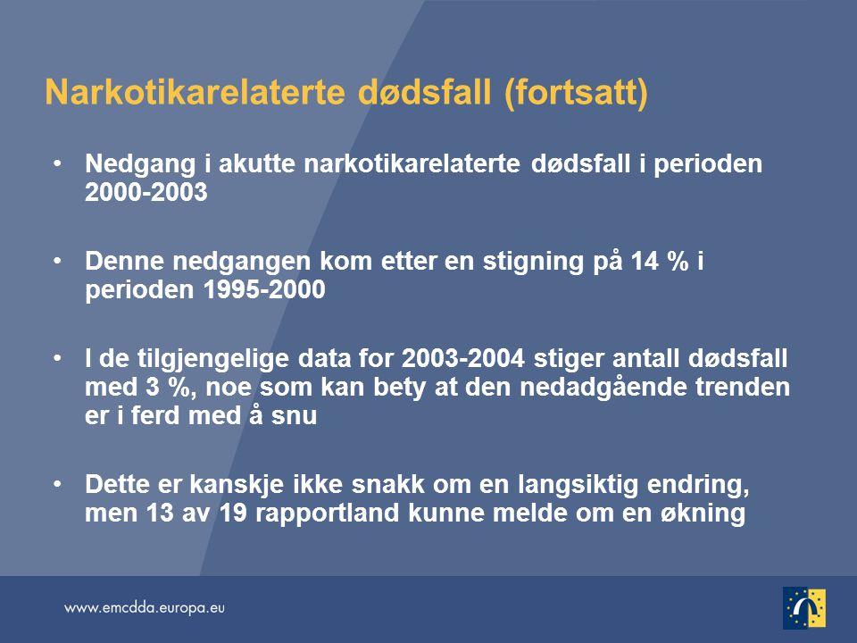 Narkotikarelaterte dødsfall (fortsatt)