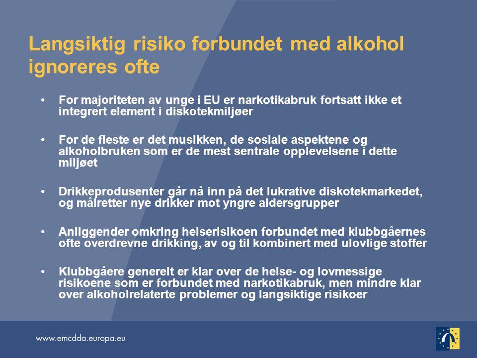 Langsiktig risiko forbundet med alkohol ignoreres ofte