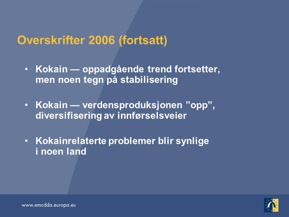 Overskrifter 2006 (fortsatt)