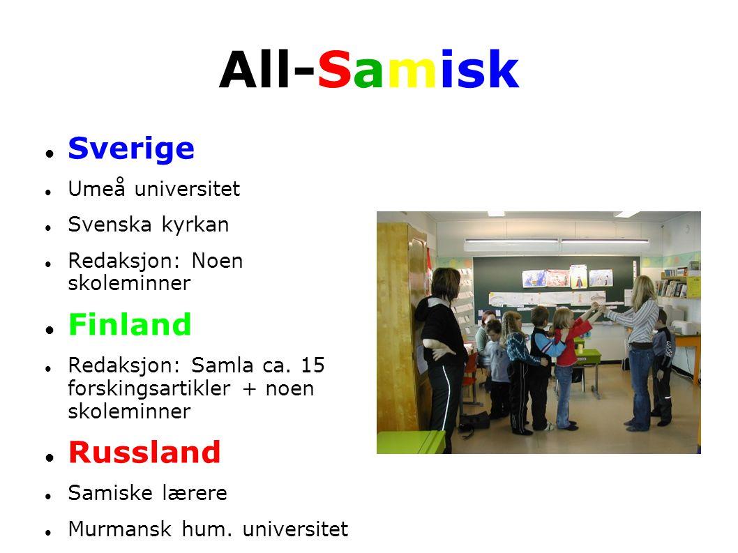 All-Samisk Sverige Finland Russland Umeå universitet Svenska kyrkan