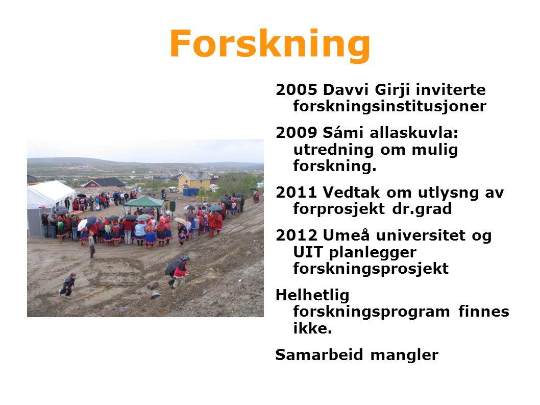 Forskning 2005 Davvi Girji inviterte forskningsinstitusjoner
