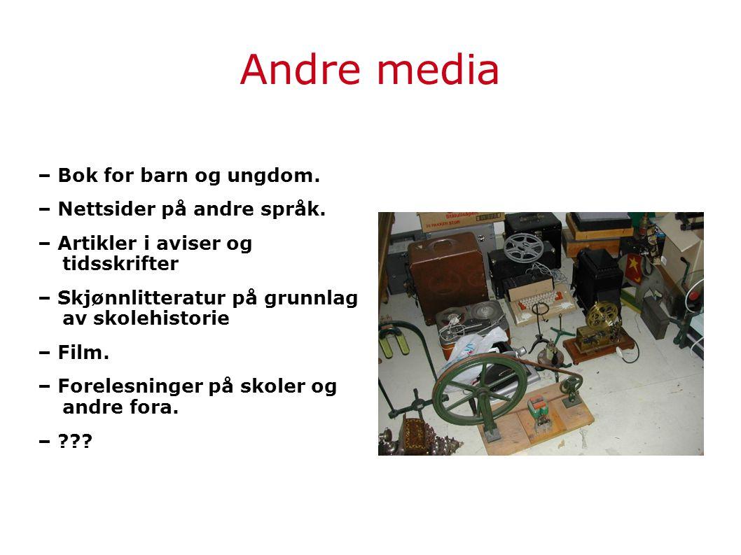Andre media – Bok for barn og ungdom. – Nettsider på andre språk.
