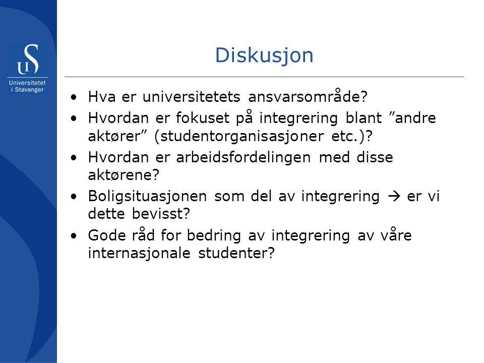Diskusjon Hva er universitetets ansvarsområde
