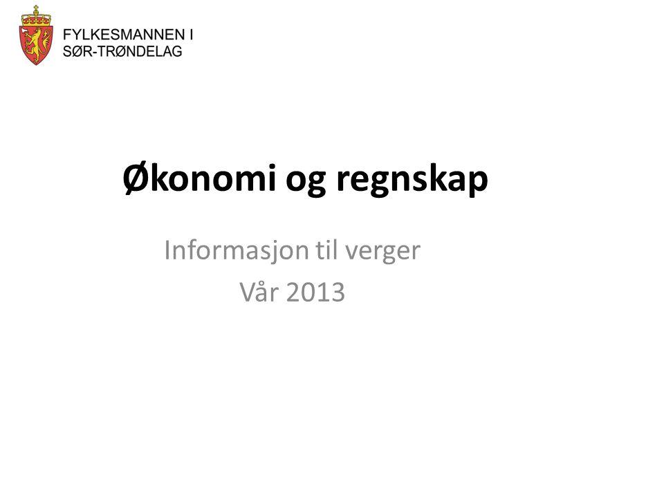 Informasjon til verger Vår 2013