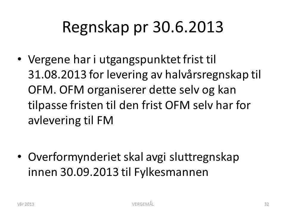 Regnskap pr 30.6.2013