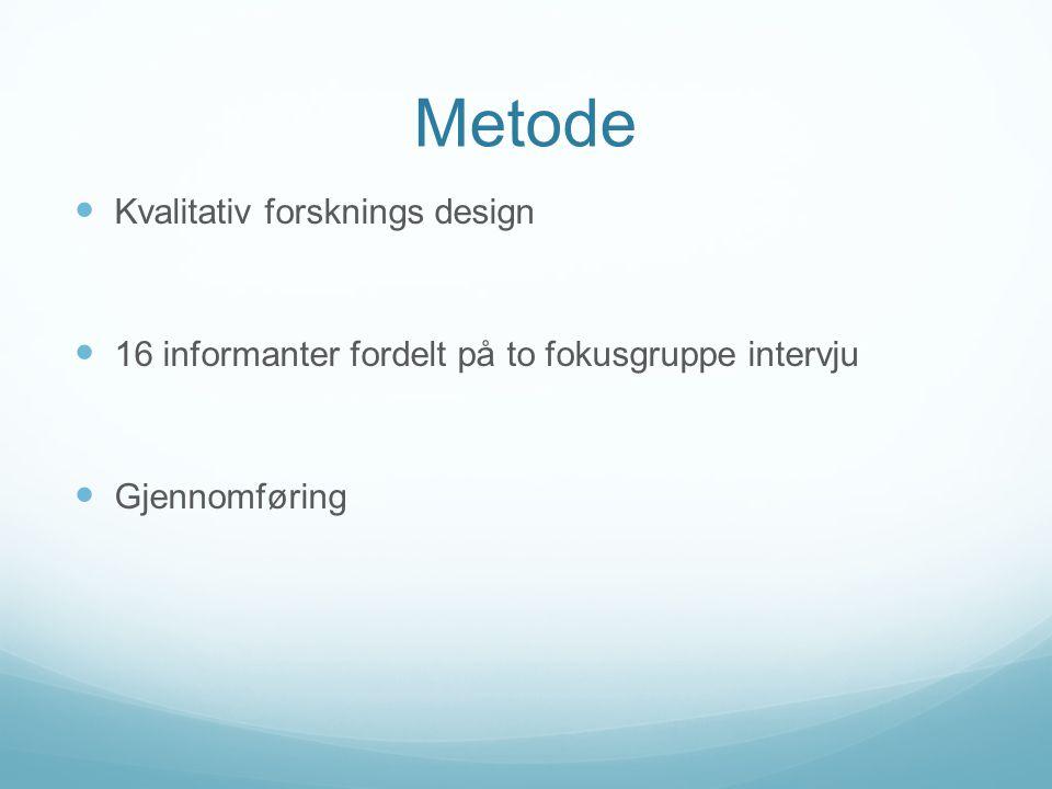 Metode Kvalitativ forsknings design
