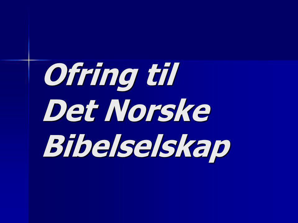 Ofring til Det Norske Bibelselskap