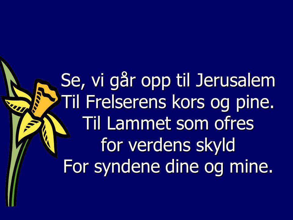 for verdens skyld For syndene dine og mine.