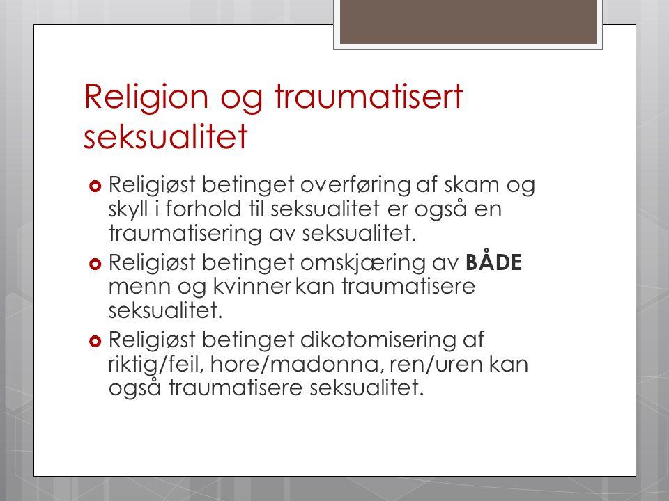 Religion og traumatisert seksualitet