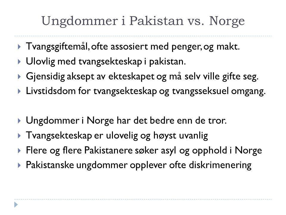 Ungdommer i Pakistan vs. Norge