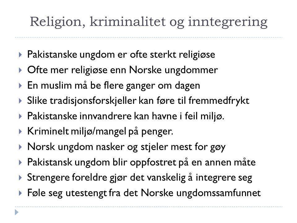 Religion, kriminalitet og inntegrering