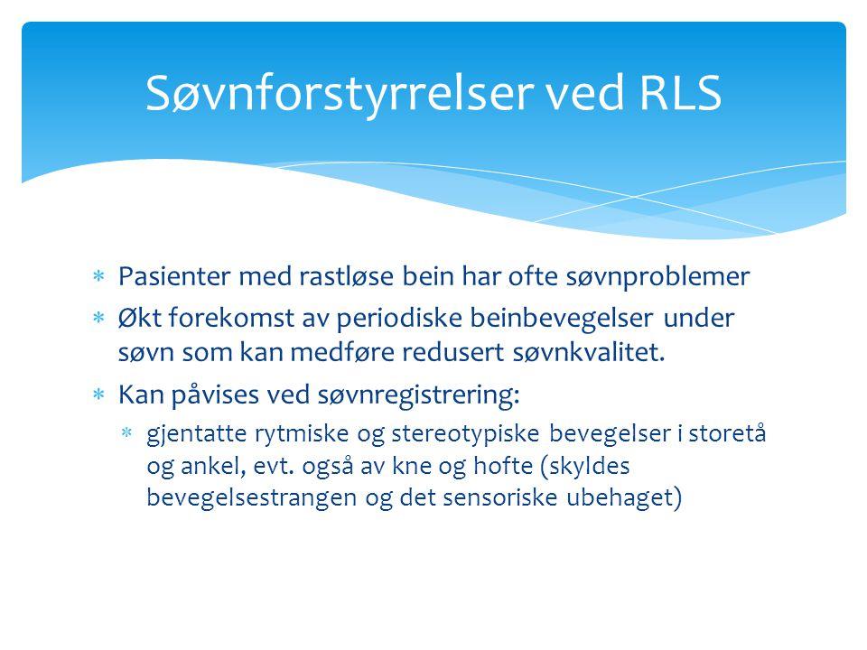 Søvnforstyrrelser ved RLS