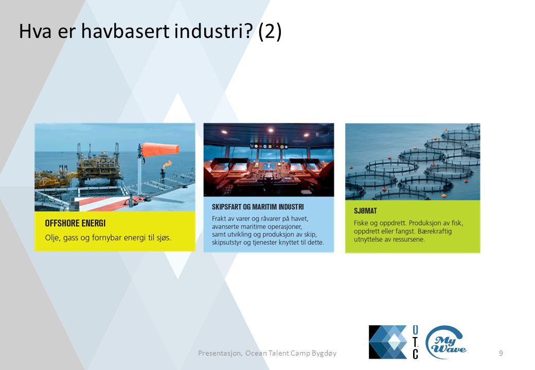 Oppgave: Diskusjon om havbaserte næringer