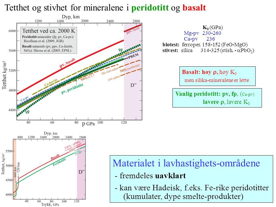 Materialet i lavhastighets-områdene