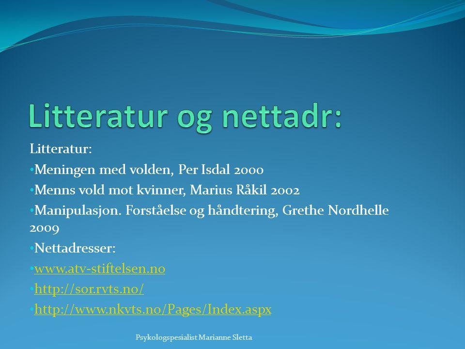 Litteratur og nettadr:
