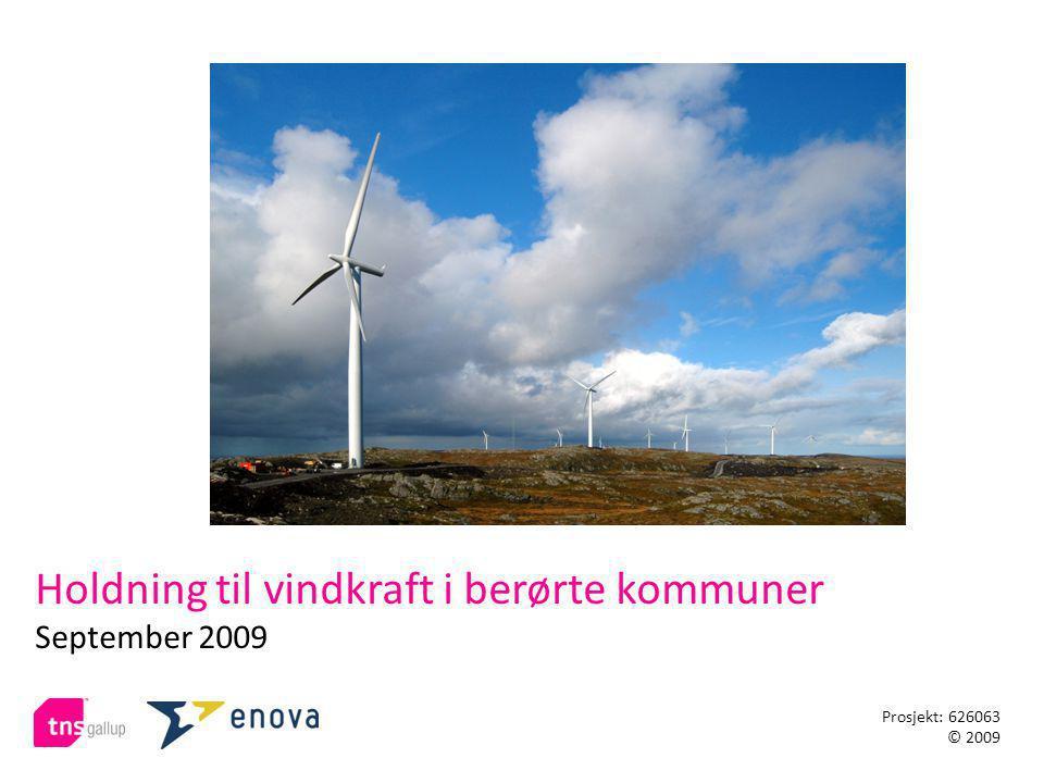 Holdning til vindkraft i berørte kommuner