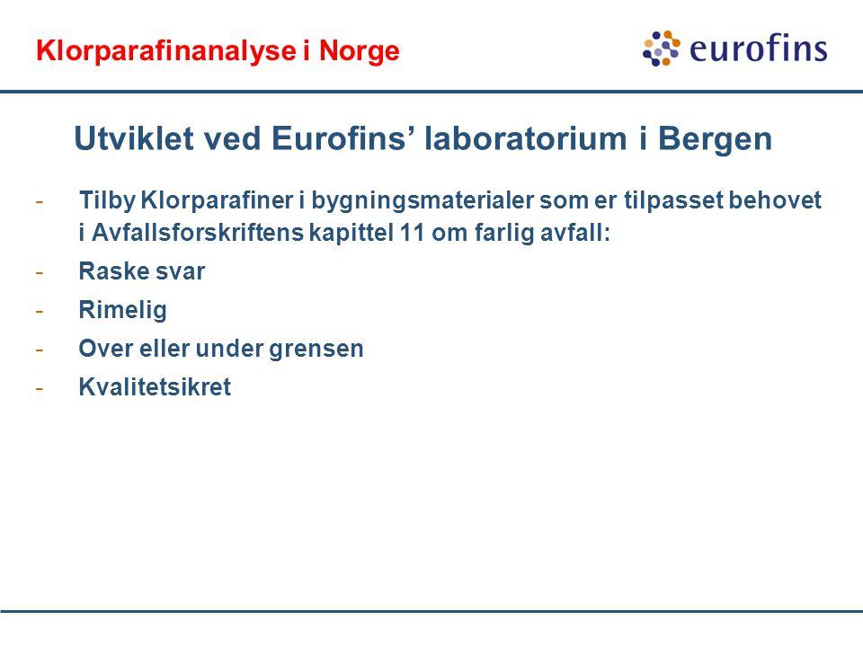 Klorparafinanalyse i Norge