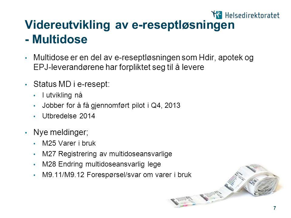 Videreutvikling av e-reseptløsningen - Multidose