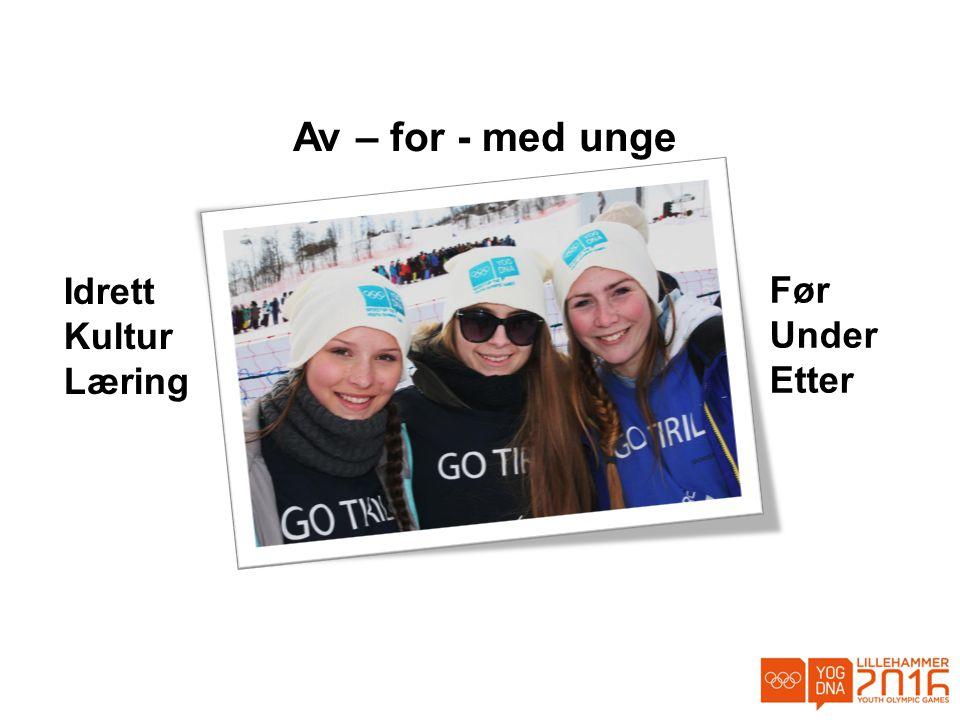 Av – for - med unge Idrett Kultur Læring Før Under Etter