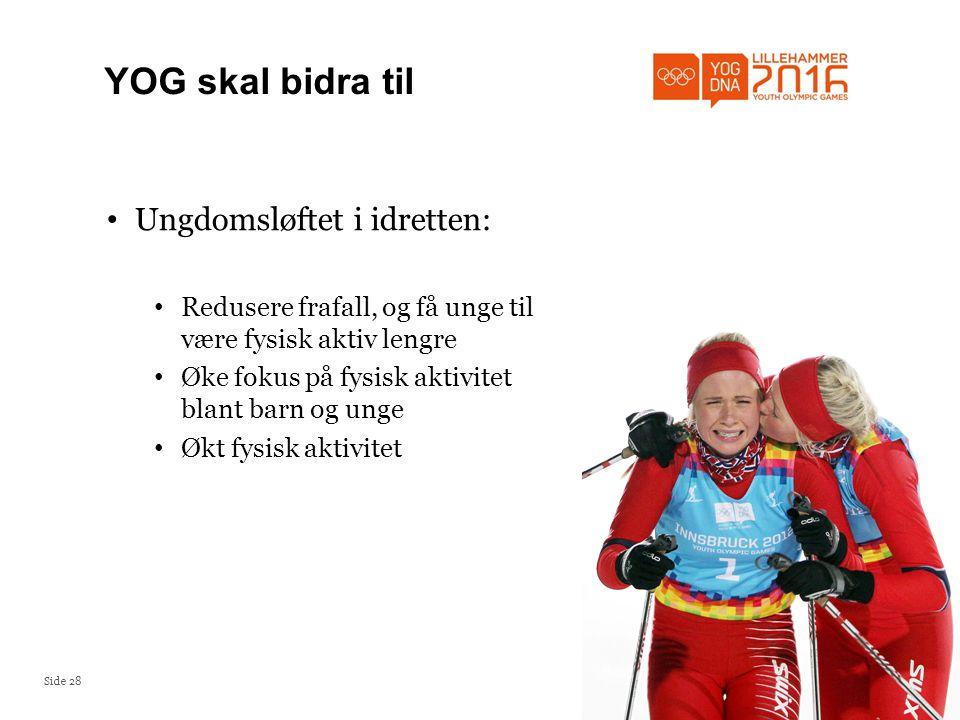 YOG skal bidra til Ungdomsløftet i idretten: