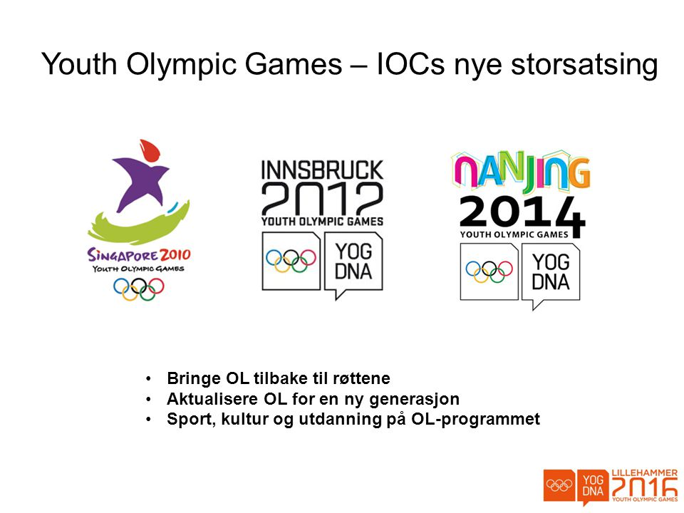 Youth Olympic Games – IOCs nye storsatsing