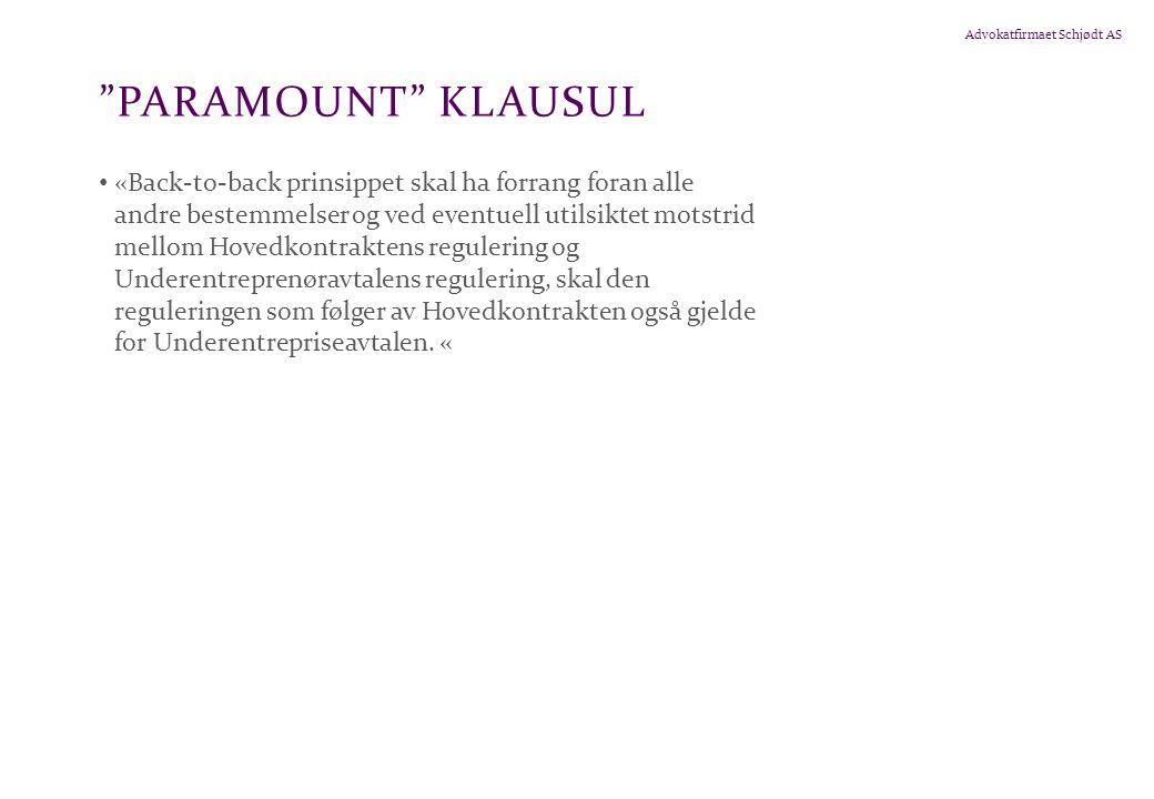 Paramount klausul