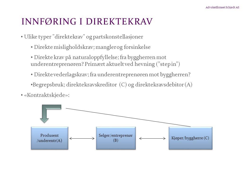 INNFØRING I DIREKTEKRAV
