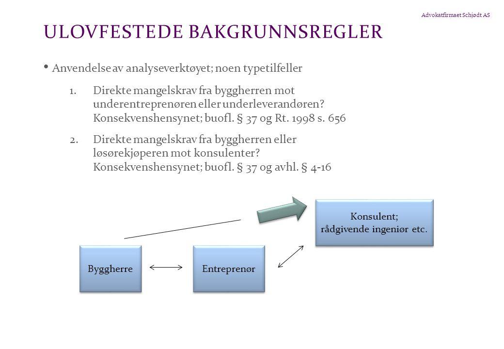 ULOVFESTEDE BAKGRUNNSREGLER