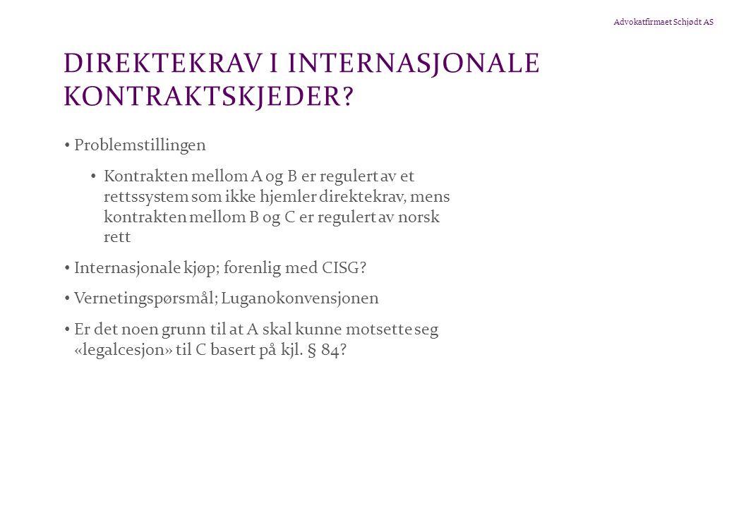 Direktekrav i internasjonale kontraktskjeder