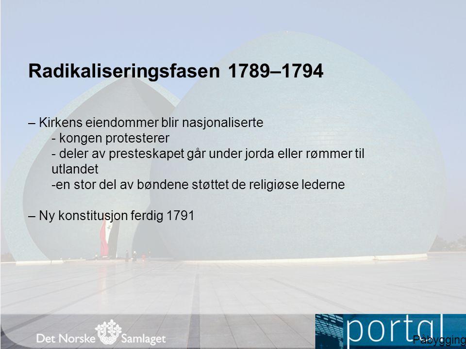 Radikaliseringsfasen 1789–1794