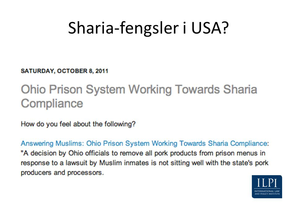 Sharia-fengsler i USA